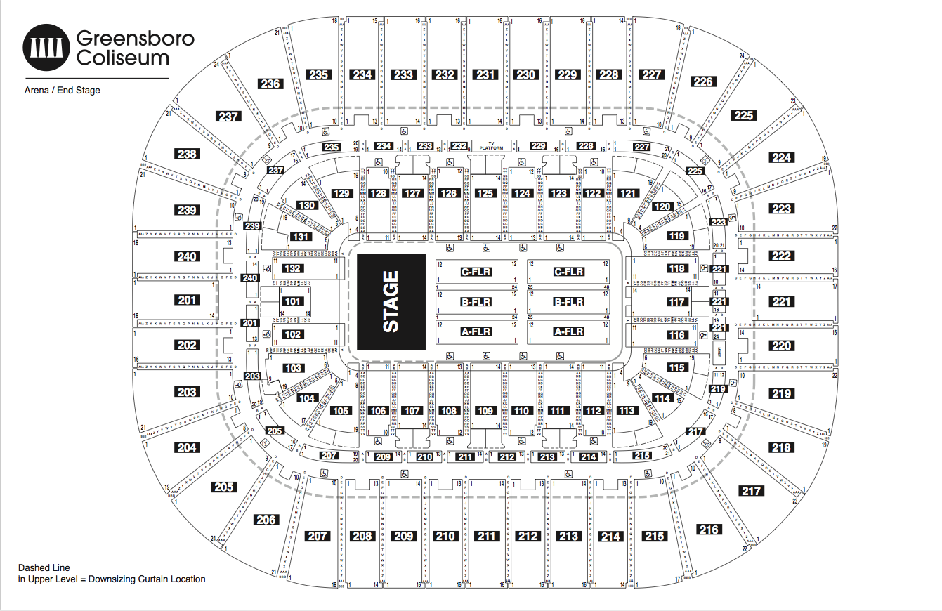 Seating Chart See Seating Charts Module Greensboro Coliseum Complex