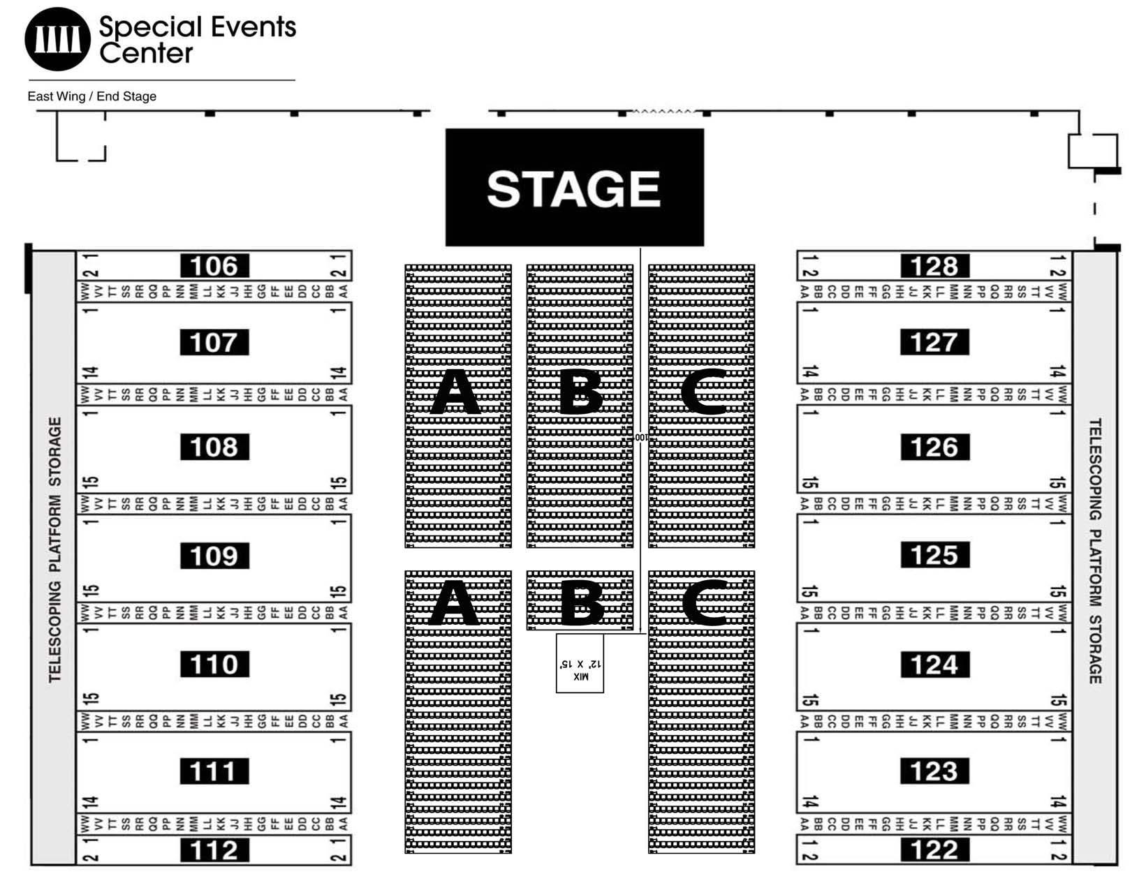 Greensboro Coliseum Seating Map Seating Chart   SEE SEATING CHARTS MODULE | Greensboro Coliseum